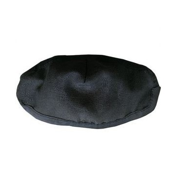 Maseczka ochronna wielokrotnego użytku Czarna  Glamur StandardNEW - 1szt. - S/M (obszyta dookoła)