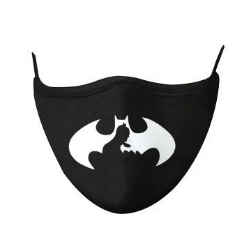 Maseczka ochronna wielokrotnego użytku Czarna Druk Batman Logo - 1szt. - L/XL (Reusable protective mask Black)