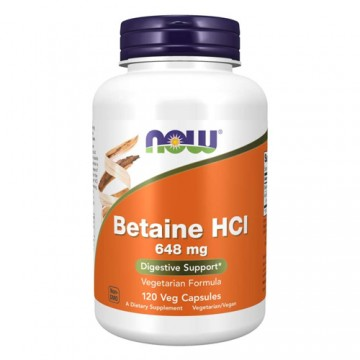 Betaine HCl 648mg - 120vcaps.