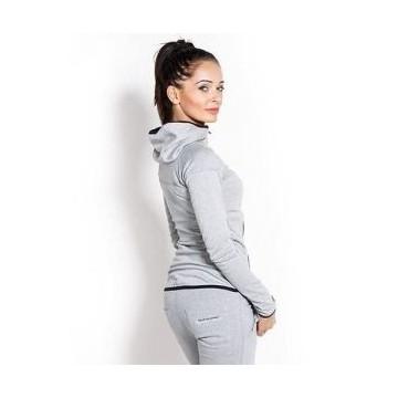 Hoodie Jacket Woman's - Melange Grey - L (bluza z kapturem)