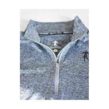 Longsleeve Woman's - Half-zip Grey - L