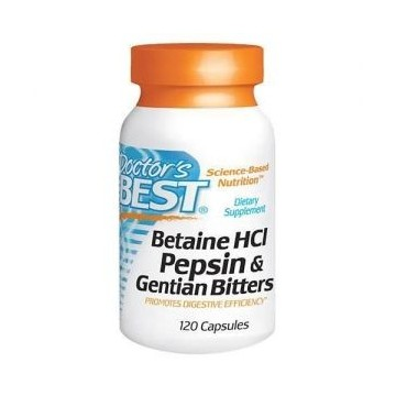 Betaine HCl Pepsin&Gentian Bitters - 120caps.